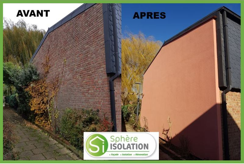 Avant / Après sur l'isolation extérieure / intérieure de votre maison